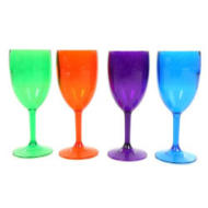 Set 4 Acrylic Wine Goblets